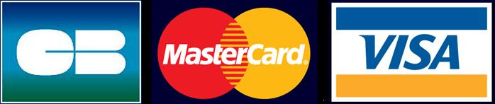 Paiement accepté, Visa, Carte bleu, Mastercard